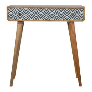Console Table with Monochrome Print