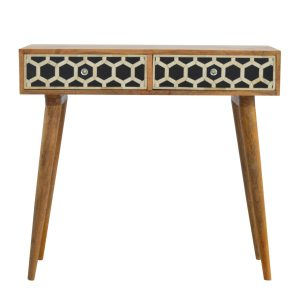 Console table with 2 Bone Inlay Draws