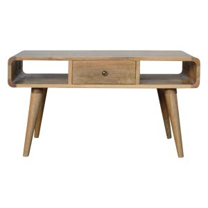 Curved Oak Style Coffee Table