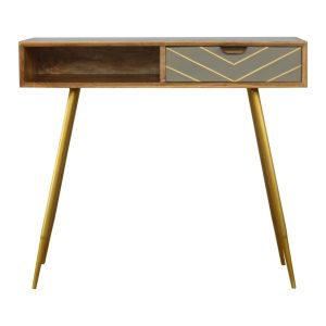 Writing Desk with Cement Finish Draw
