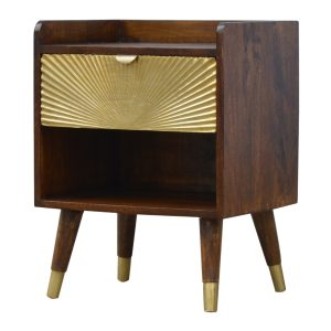Hand Crafted Solid Wood Furniture with Gold Inlays