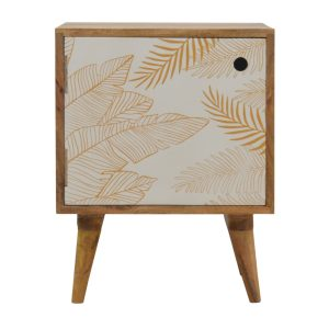 Solid Wood Hand Crafted Furniture with Leaf Print