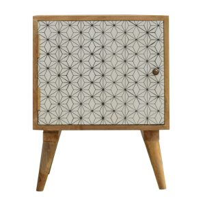 Bedside table with Geometric Design