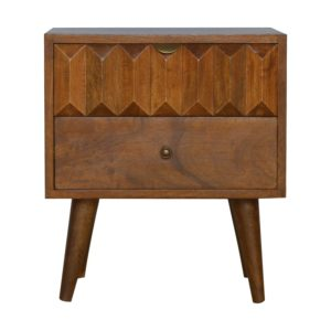 Hand Crafted Solid Wood Furniture with Prism Pattern