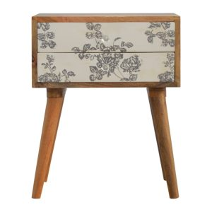 Hand Crafted Solid Wood Furniture with Floral Print Design
