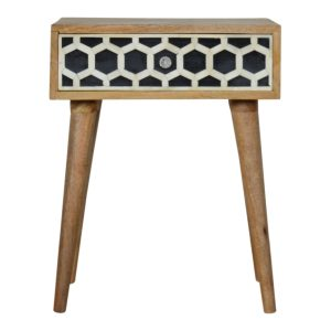 Bedside Table with Bone Inlay Drawer