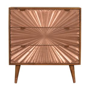 Chestnut Chest of Drawers with Manila Copper Finish