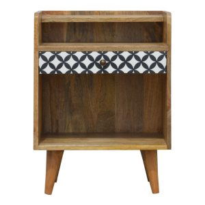Hand Crafted Solid Wood Furniture with Diamond Pattern