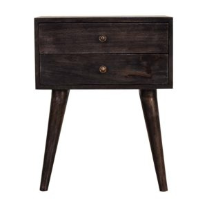 Bedside table with Modern Black Ash Finish
