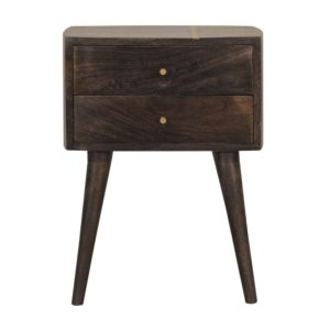 Cairo Bedside Table with 2 Drawers & Chestnut Finish