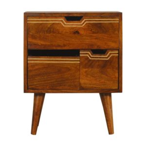 Hand Crafted Solid Wood Chestnut Finish Furniture