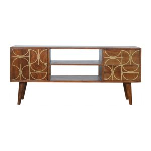Hand Crafted Solid Wood Furniture with Bone Inlay Pattern