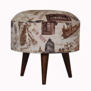 Hand Crafted Solid Wood Furniture with Print Design
