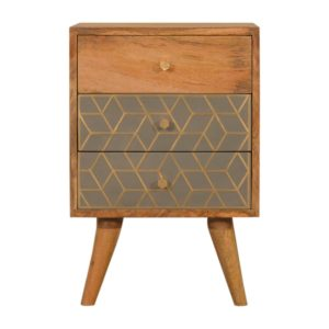 Hand Crafted Solid Wood Bedside Tables
