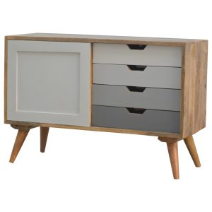 Hand Crafted Solid Wood Grey Painted Furniture
