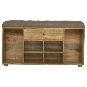 Solid Wood Hand Crafted Furniture with Oak Finish