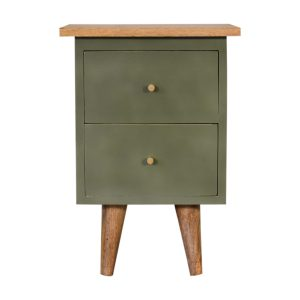 Hand Crafted Solid Wood Olive Painted Furniture