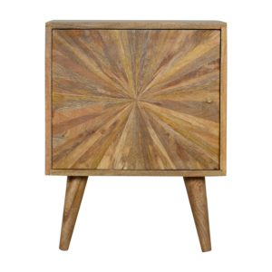 Solid Wood Hand Crafted Furniture with Sunrise Pattern