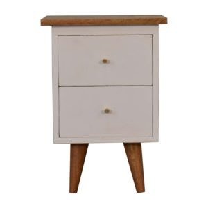 Bedside Table with White Hand Painted Body