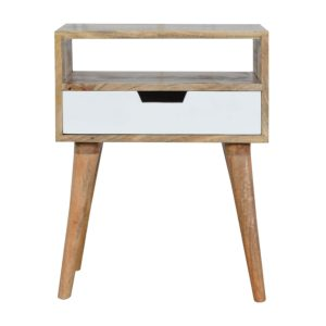 Bedside Table with White Painted Drawer