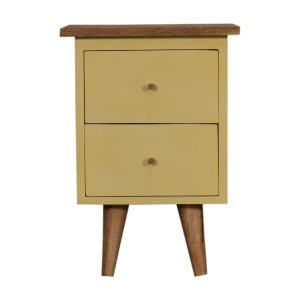 Bedside Table with Yellow Painted Body