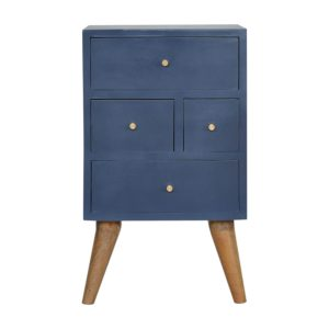 Hand Crafted Solid Wood Blue Coloured Furniture